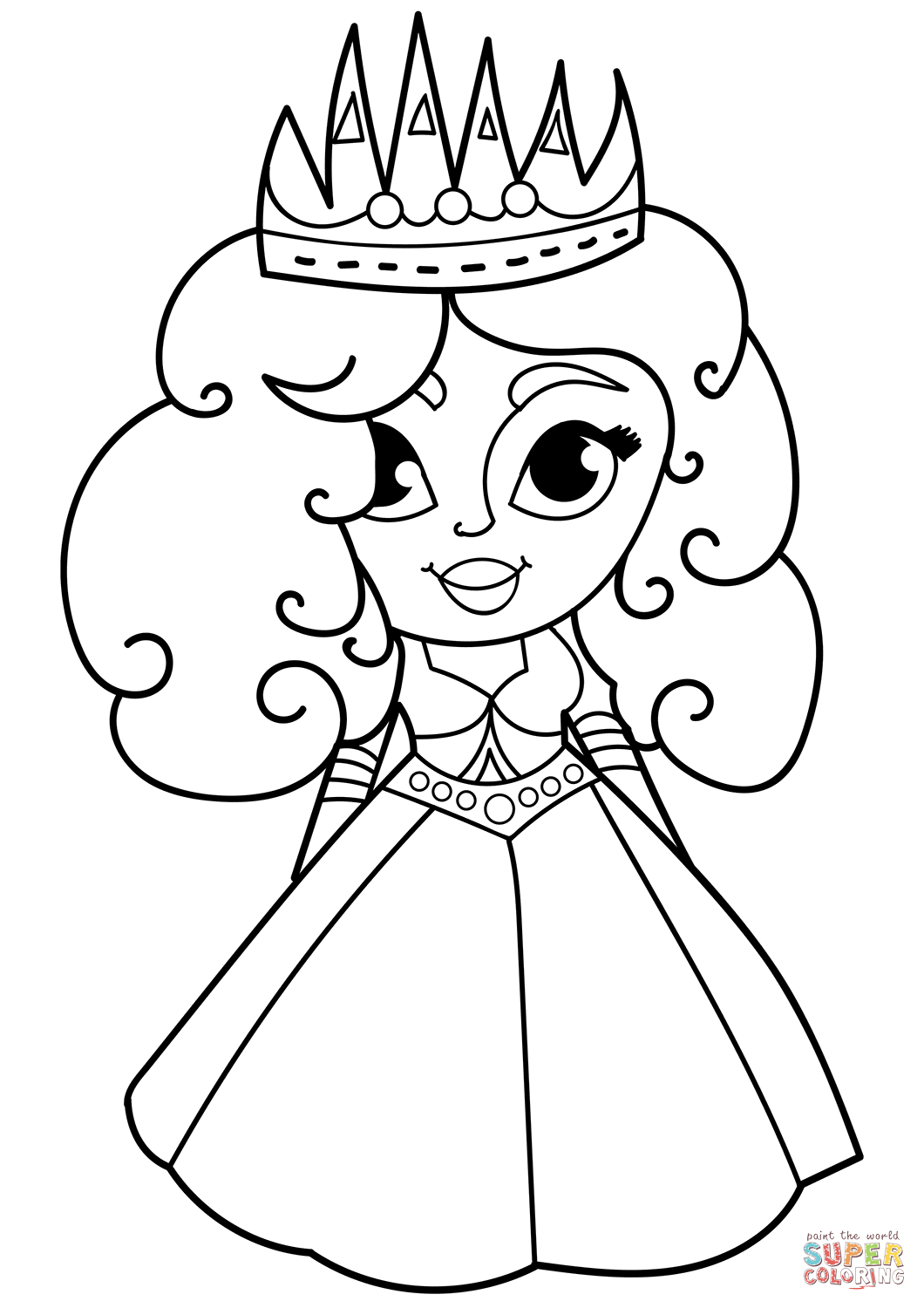 1060x1500 Cartoon Princess Coloring Page Free Printable Coloring Pages