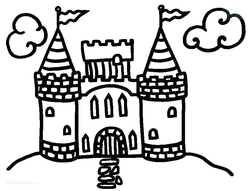 Princess Castle Drawing