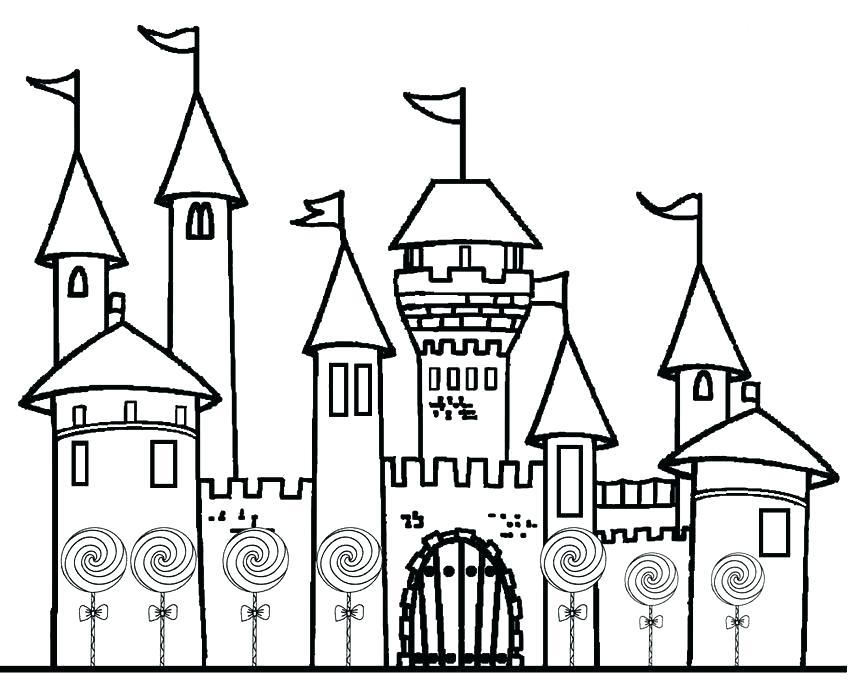 850x689 Princess Castle Coloring Page Pages Printable