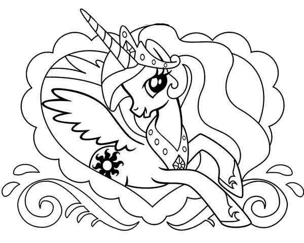 600x481 Pony, Princess Celestia In Love Frame My Little Pony Coloring
