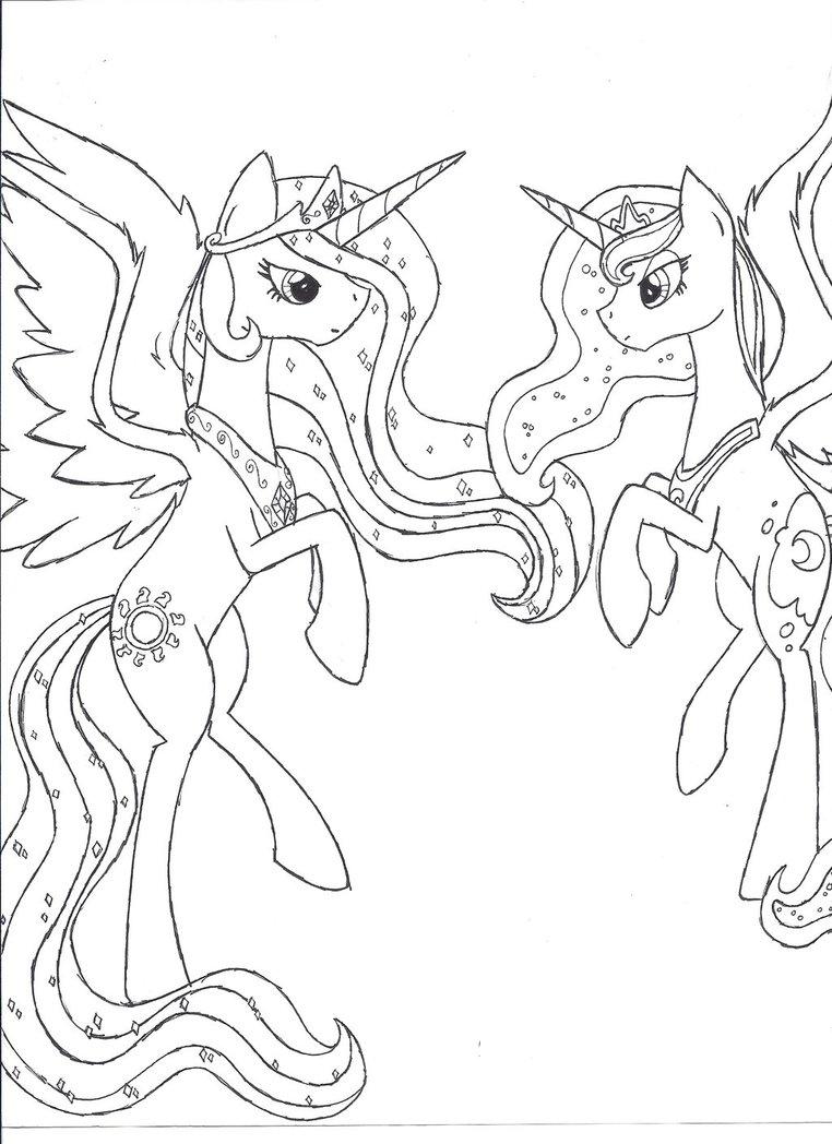 762x1048 Princess Celestia And Princess Luna Unfinished By Iwatobi No