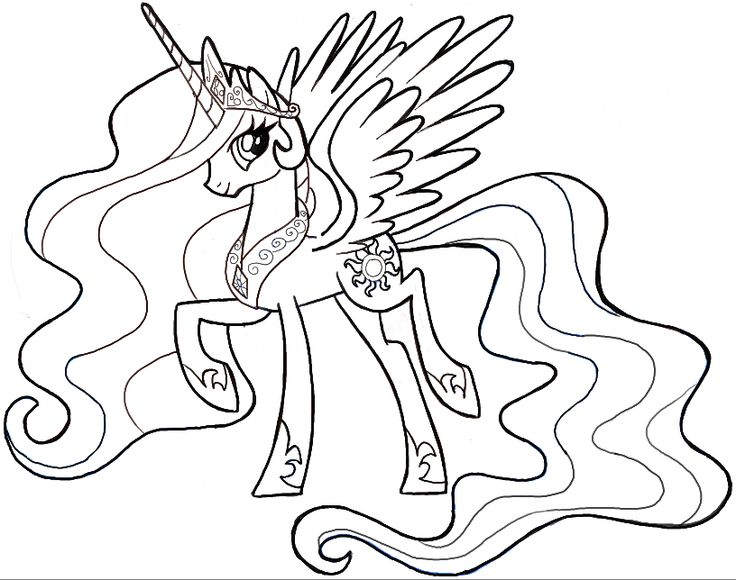 Princess Celestia Drawing at GetDrawings.com | Free for personal use ...