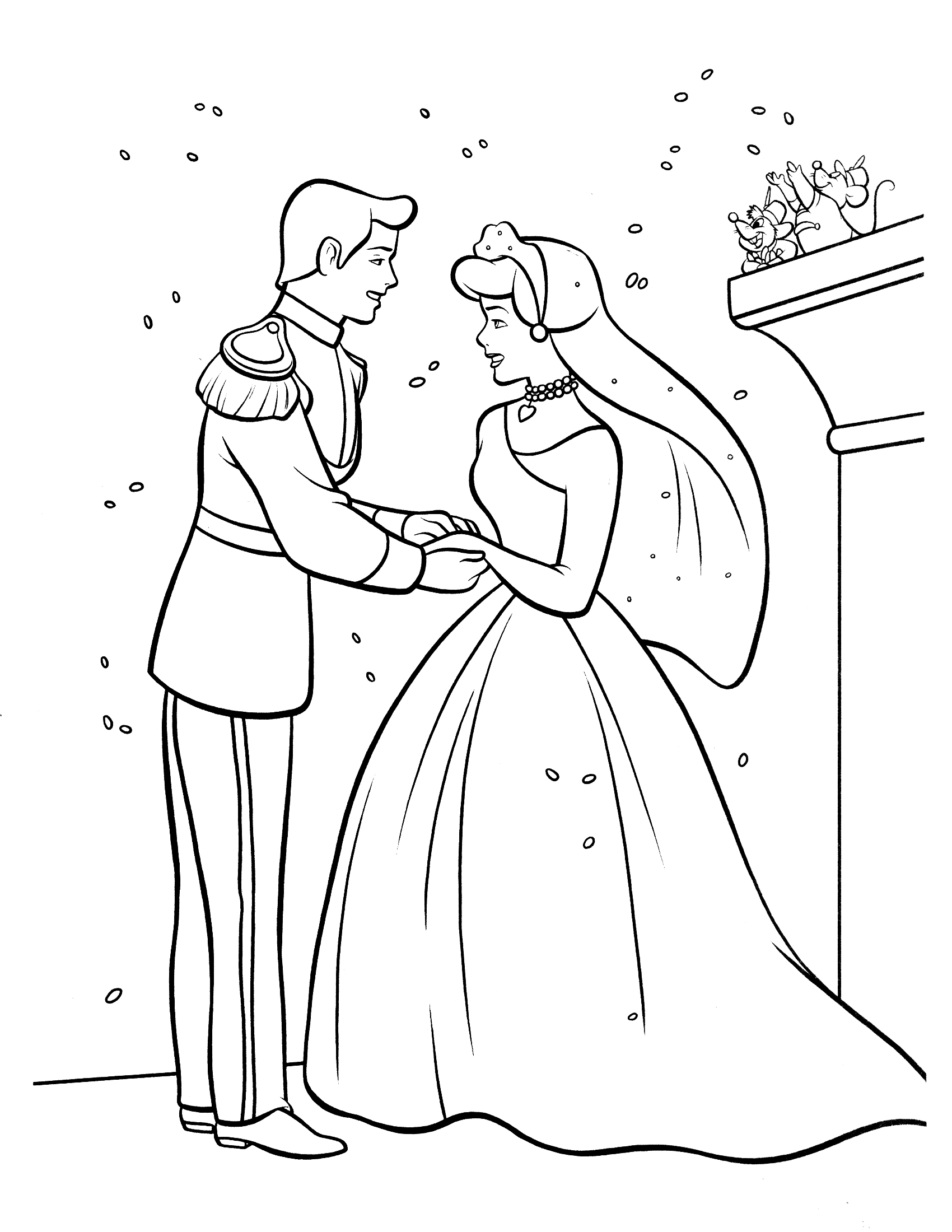 1700x2200 Cool Cinderella Coloring Pages 9