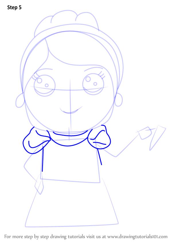 600x846 Learn How To Draw Kawaii Princess Cinderella (Kawaii Characters