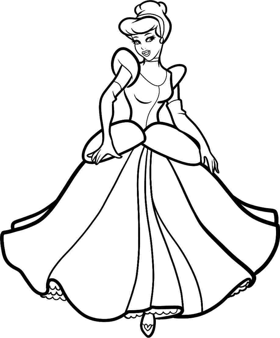 Princess Cinderella Drawing At GetDrawings