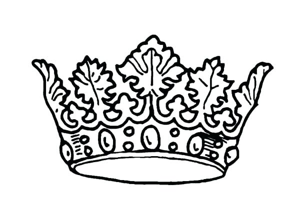 600x425 Crown Coloring Pages Picture Of Princess Crown Coloring Page Crown