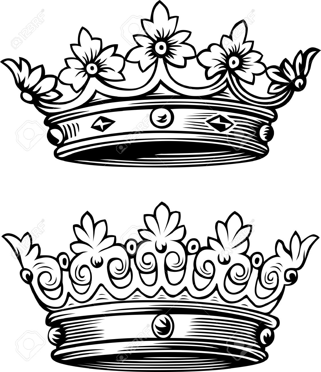 King And Queen Crown Coloring Pages - Bltidm