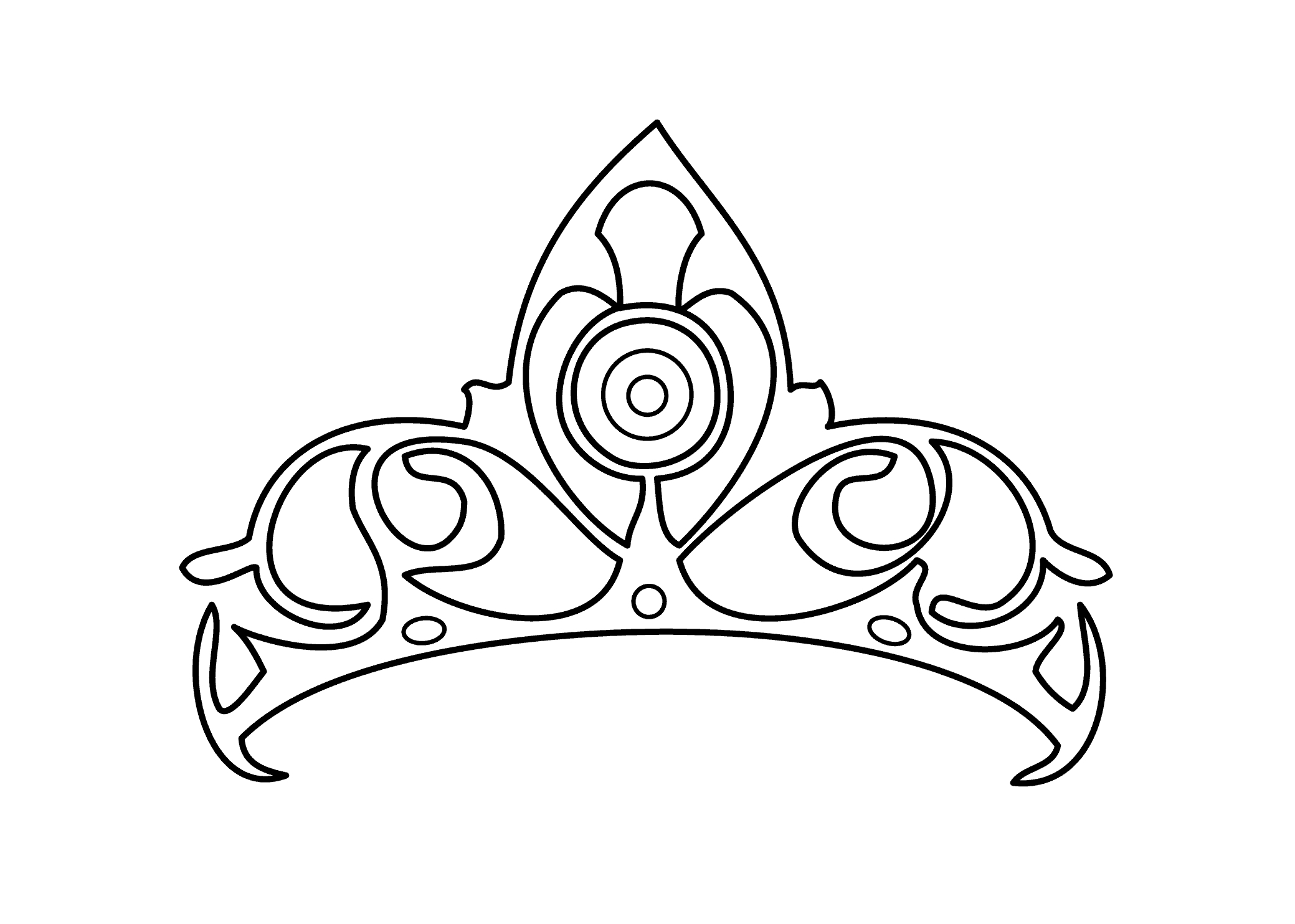 Princess Crown Drawing at GetDrawings.com | Free for personal use ...