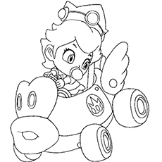 Princess Daisy Drawing