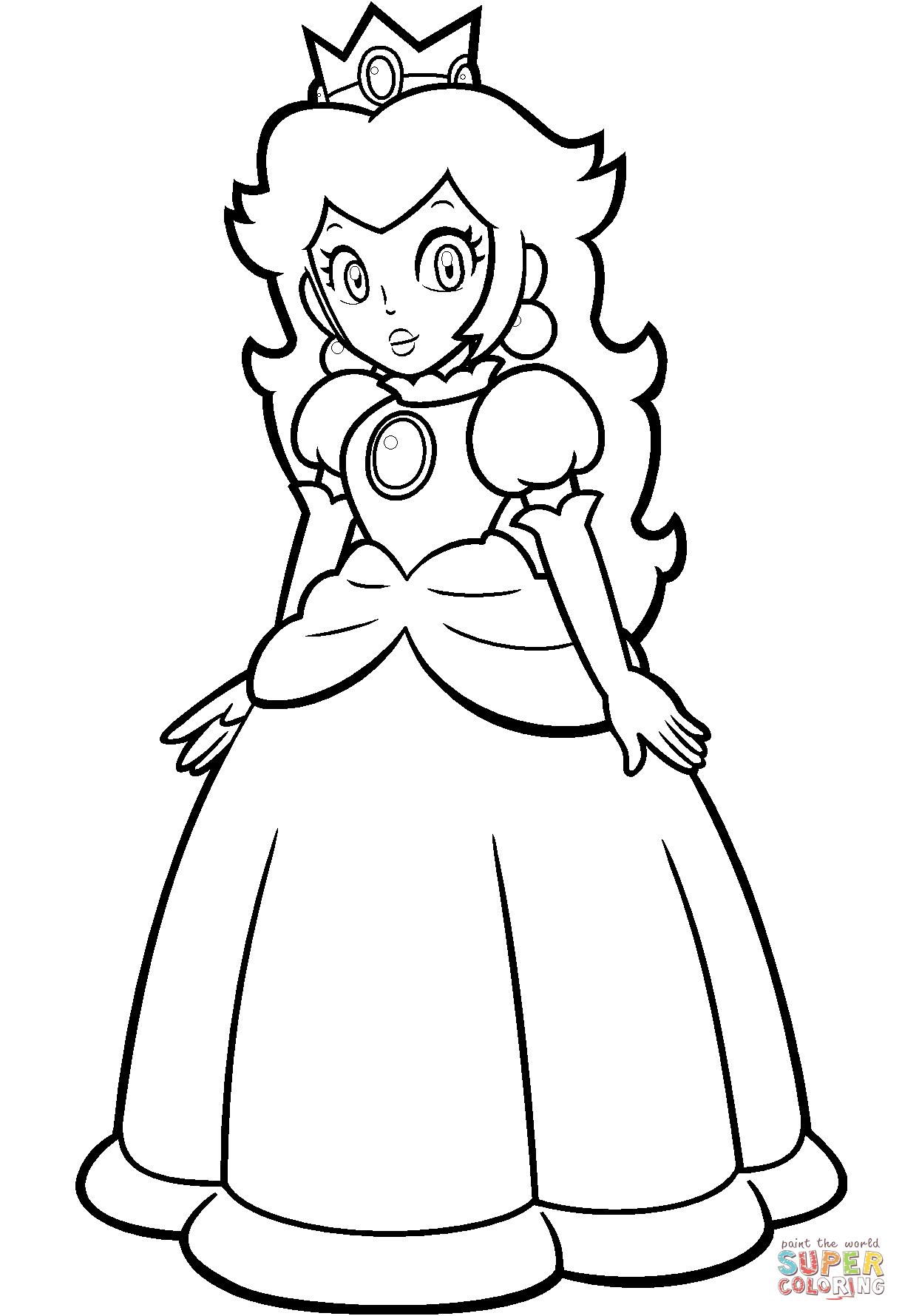 1220x1780 Mario Princess Peach Coloring Page Free Printable Pages