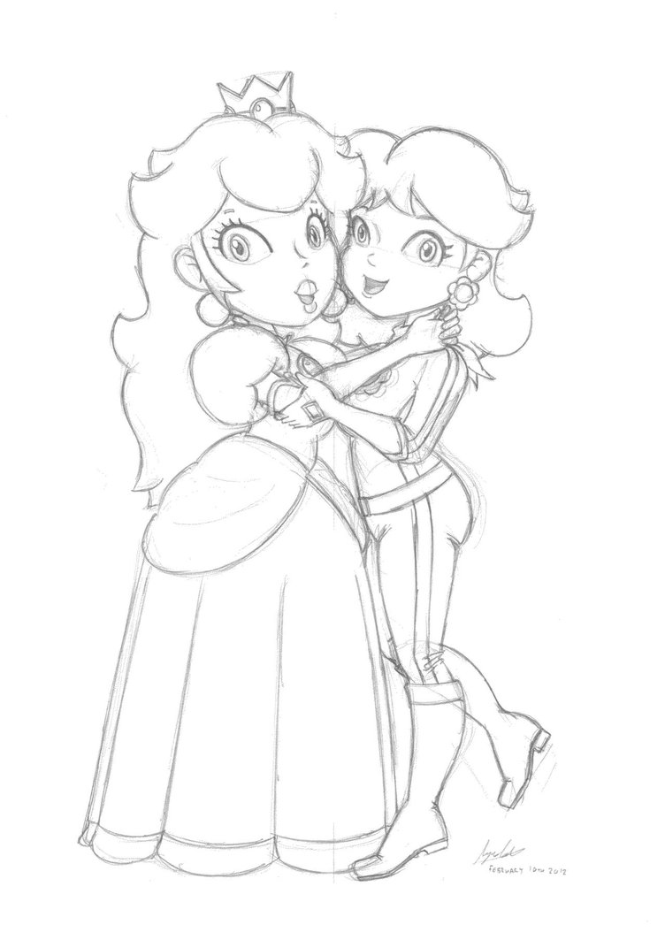 752x1063 peach hugging daisy sketch by famousmari5 on deviantart