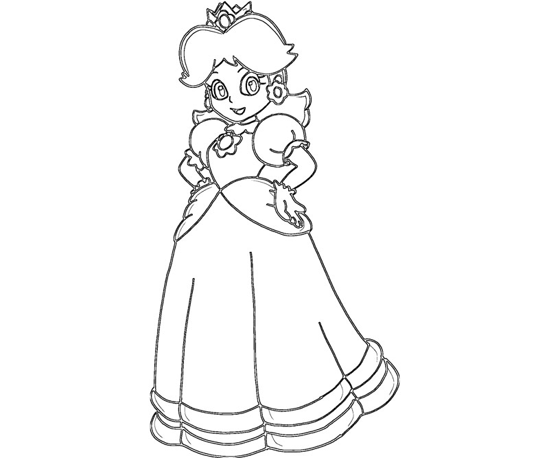 800x667 Princess Daisy Coloring Pages Princess Daisy Coloring Pages Peach
