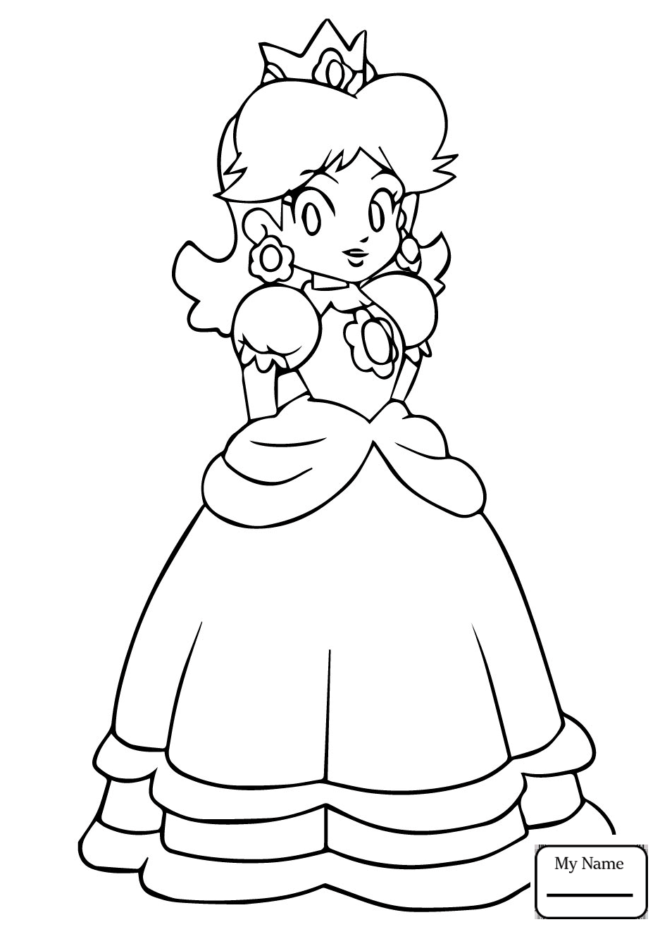 937x1326 Cartoons Princess Daisy Mario Daisy Princess Daisy Coloring Pages