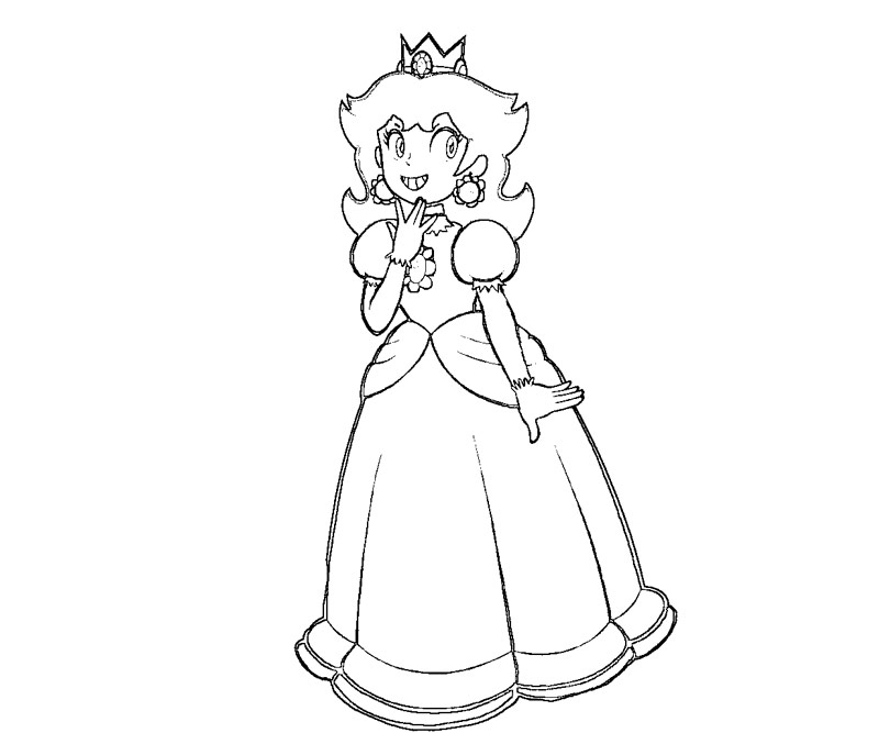 800x667 Coloring Pages Princess Daisy 8T64RayTE