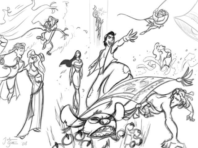 Princess Disney Drawing