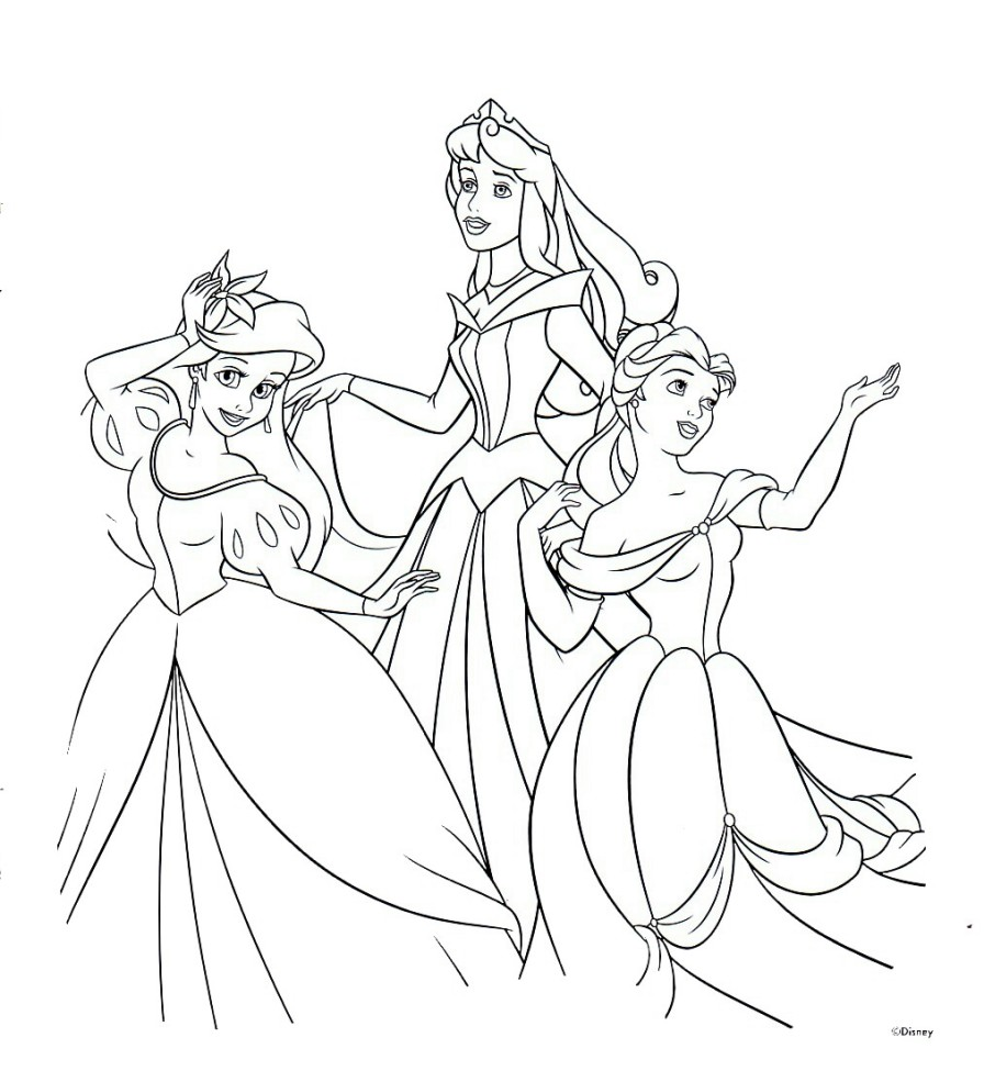 896x985 Free Printable Disney Princess Coloring Pages For Kids