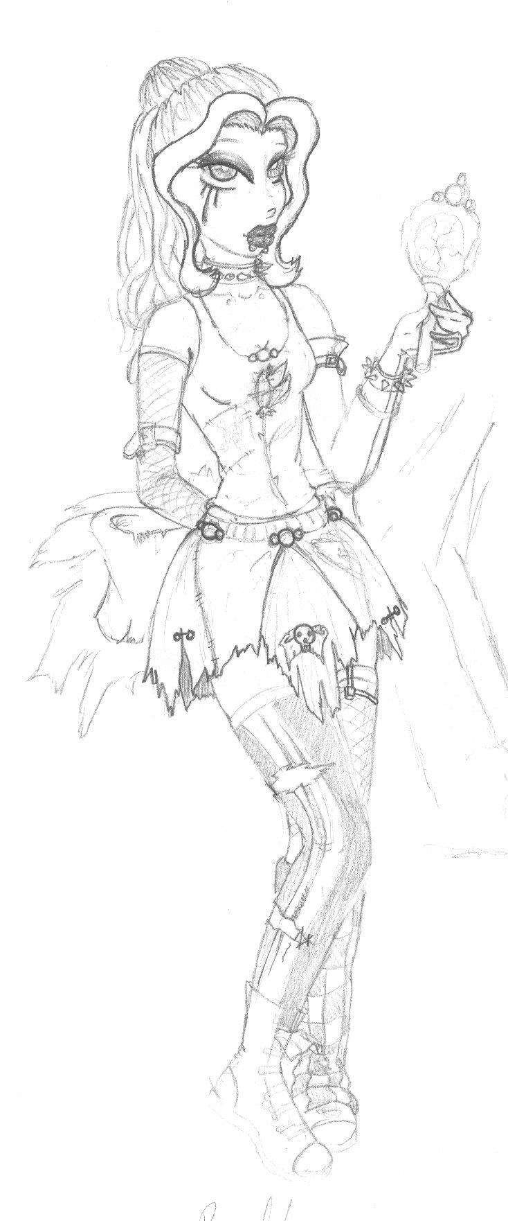 734x1762 Belle Punk Disney Princess By Ravercandy