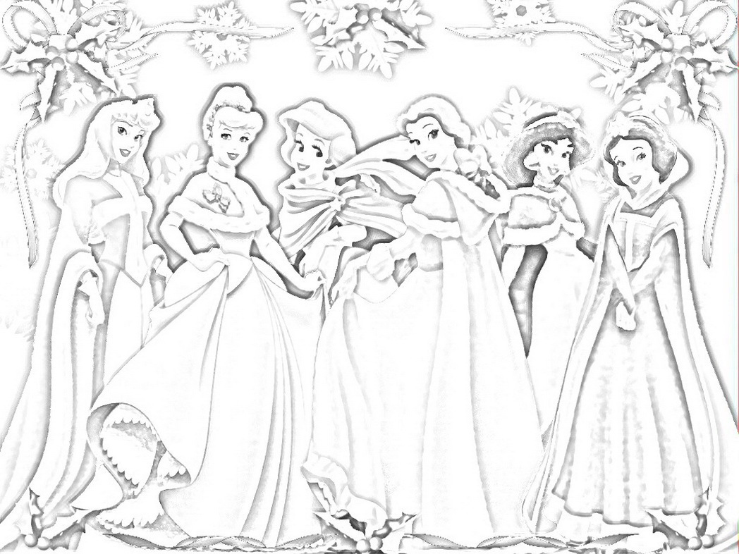 1048x786 Princess Snow White And All Disney Friends Sketches 564034