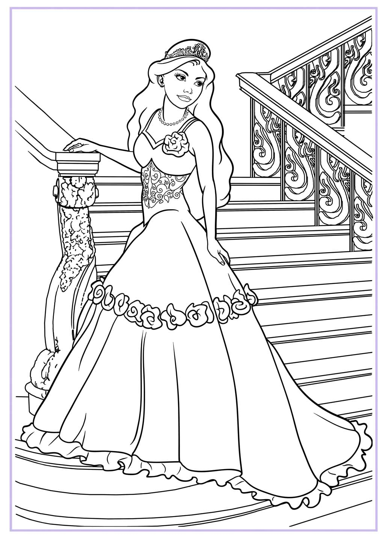 1025x1440 Drawing Of A Princess