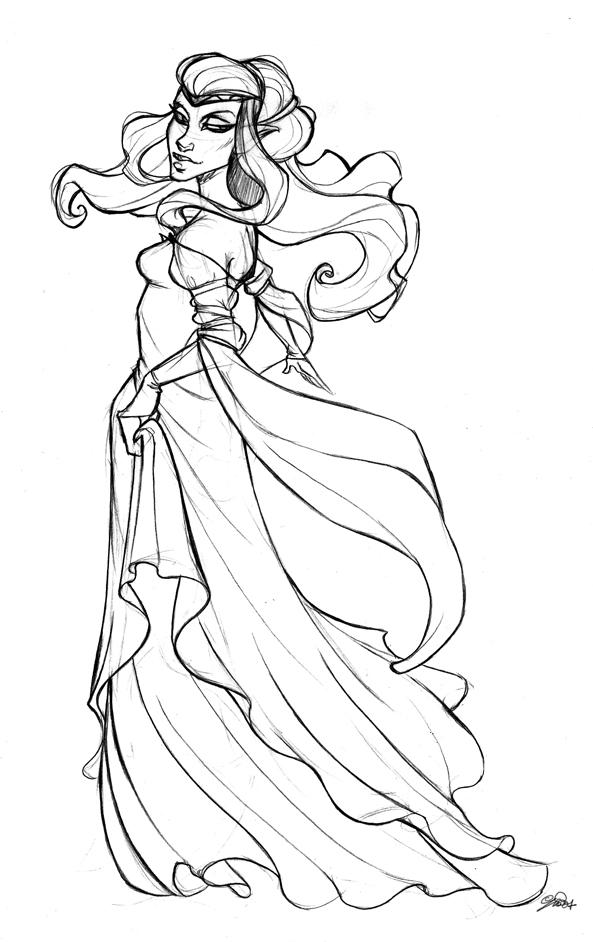 593x942 Elf Princess Sketch By Iriusabellatrix