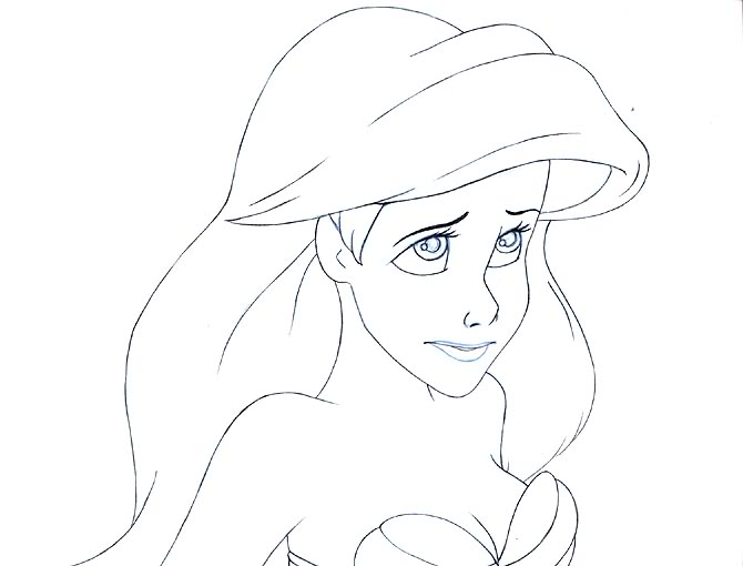 670x510 Drawn Princess Ariel