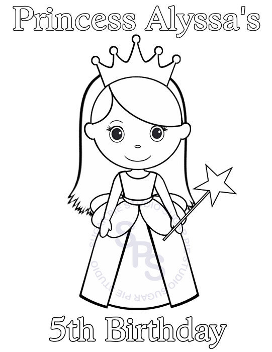541x700 Personalized Printable Princess Birthday Party Favor Childrens