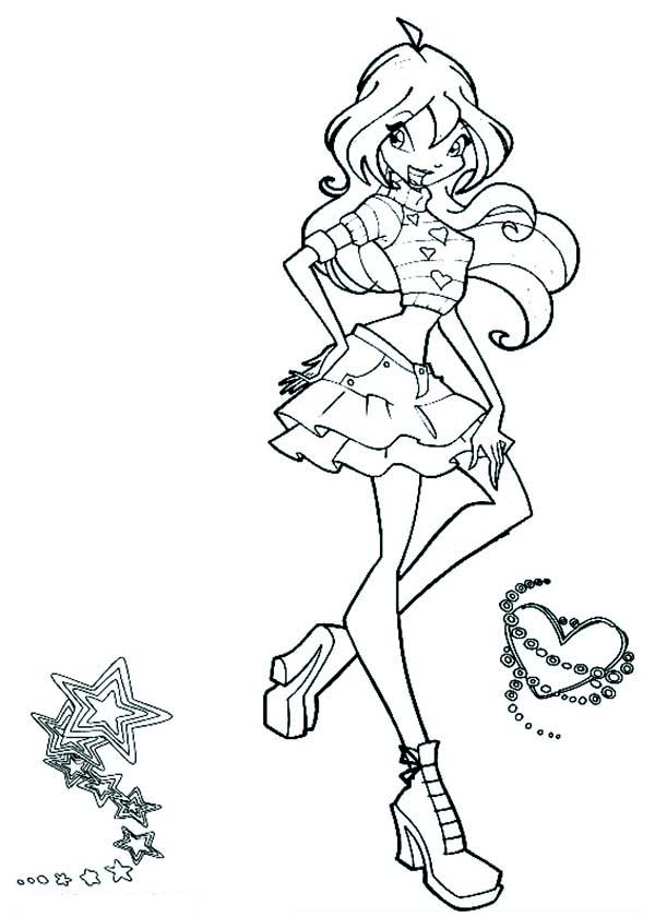 600x840 Drawing Princess Bloom Winx Club Coloring Pages Batch Coloring