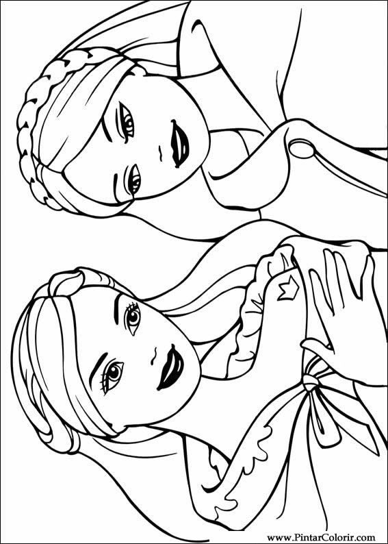 567x794 Drawings To Paint And Barbie Princess Coloring