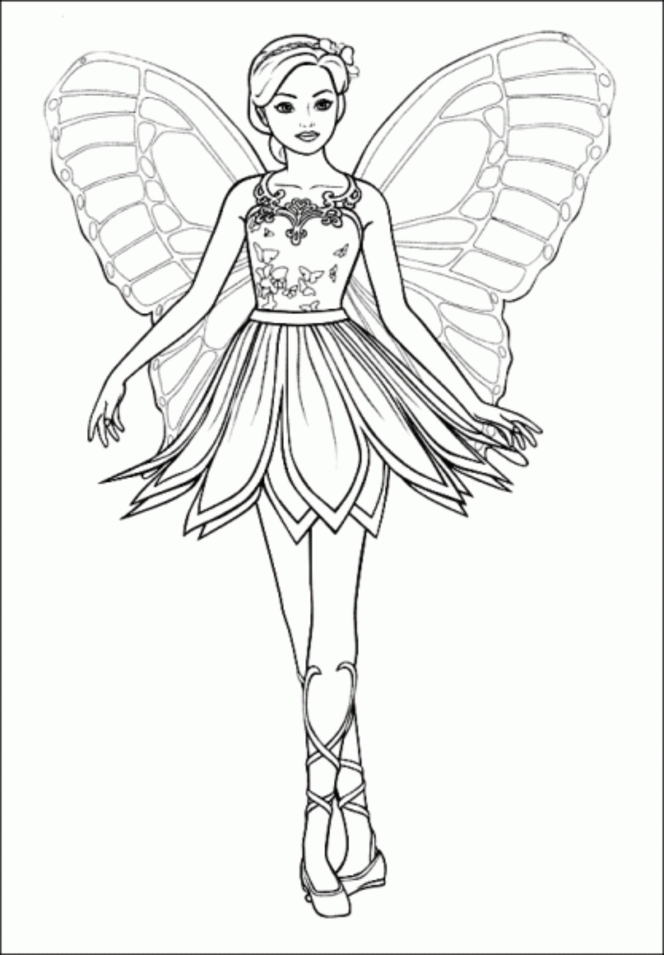 2250x3237 Pencil Drawing Of Barbie Doll Of Disney Princess