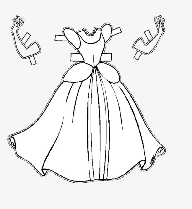 650x707 Hand Painted Princess Dress, Cartoon, Sketch, Hand Painted Png