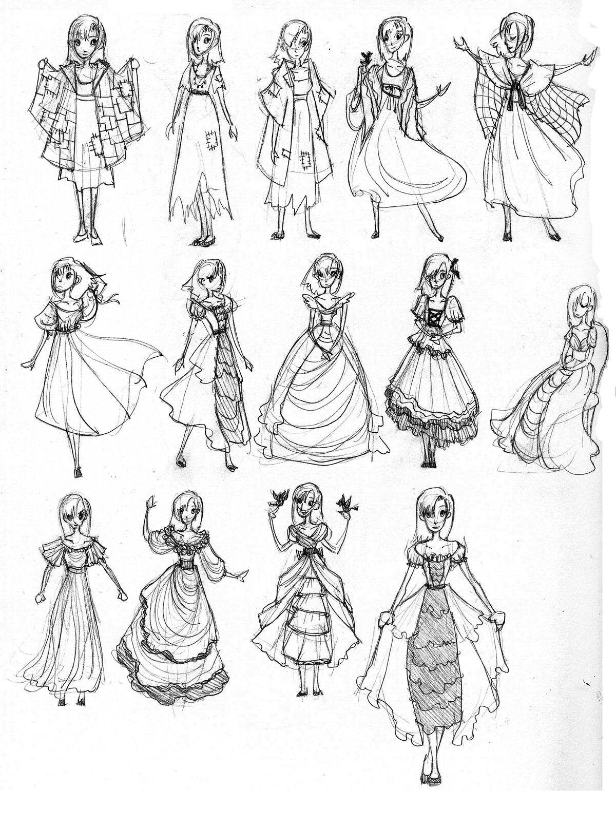 1200x1611 Princess Dress Designs Sketches Dress Designs