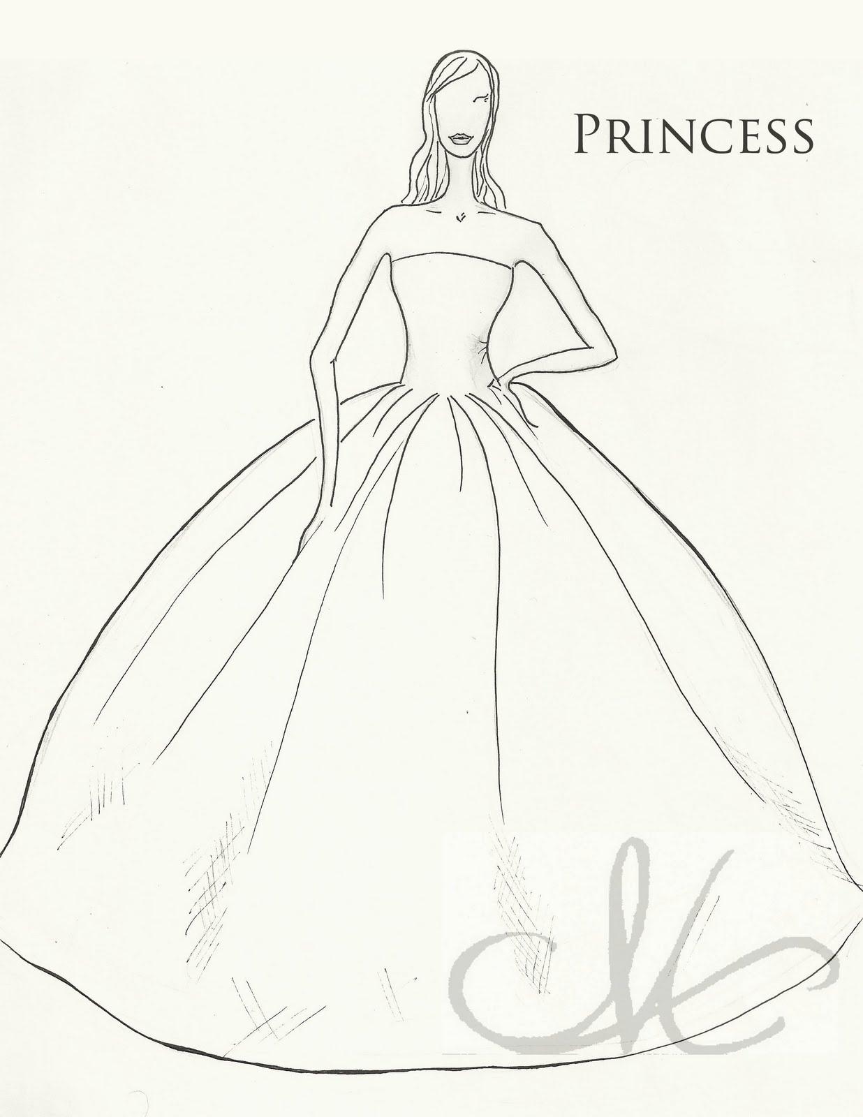 1236x1600 Princess Dress Drawing Wedding Dress