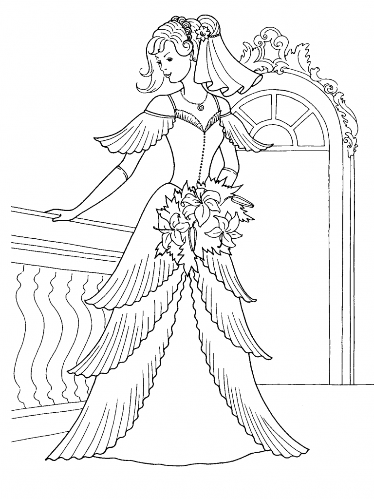 768x1024 Barbie Princess Dress Drawing 1000 Images About Dress Coloring