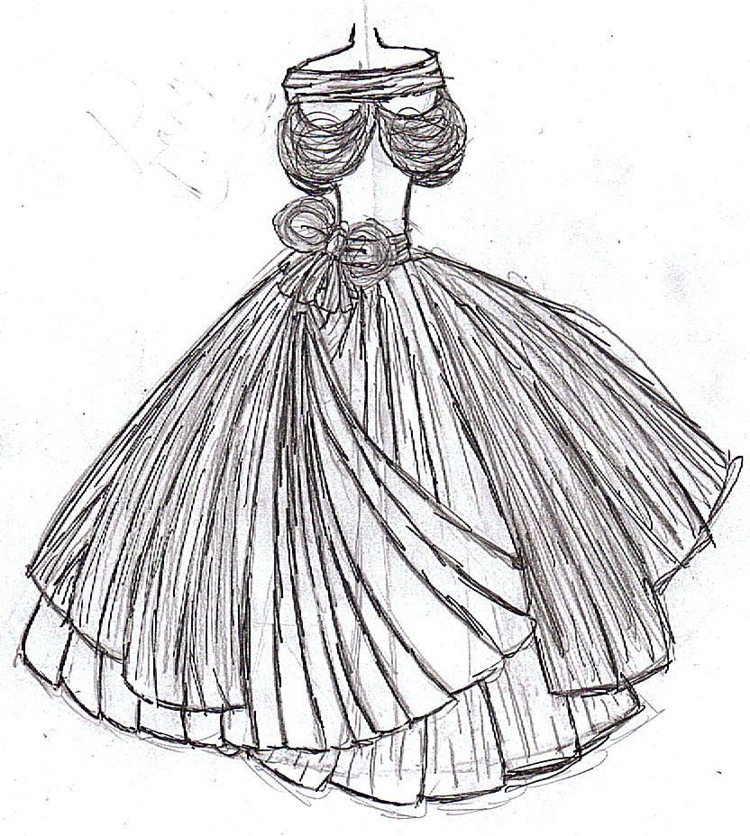 832x928 Pretty Princess Dress By Brb123.jpg Indian Dress Drawn