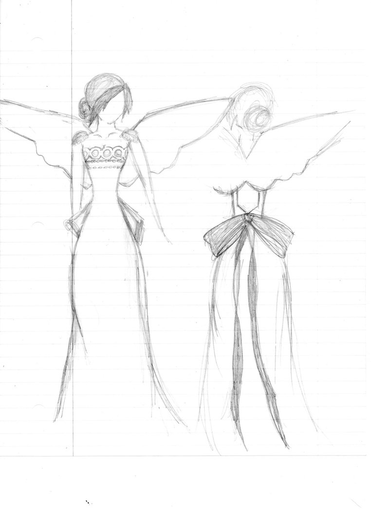 762x1048 Usagi Princess Serenity Dress Wedding Dress Sketch By Punk3rlov3r