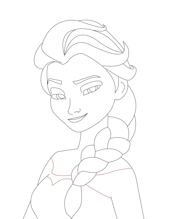 768x924 How To Draw Elsa From Frozen
