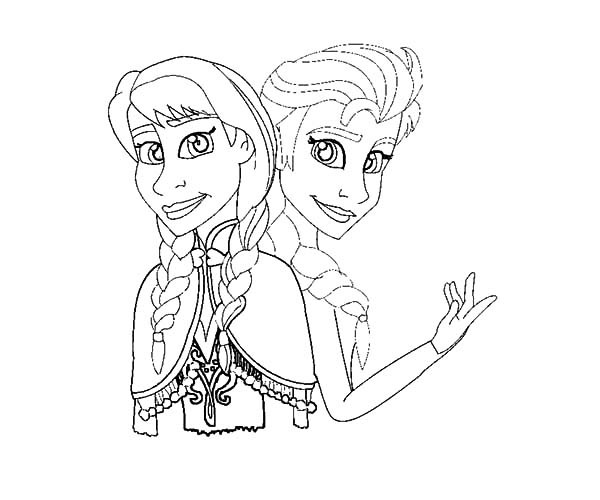600x500 How To Draw Princess Anna And Queen Elsa Coloring Pages Best