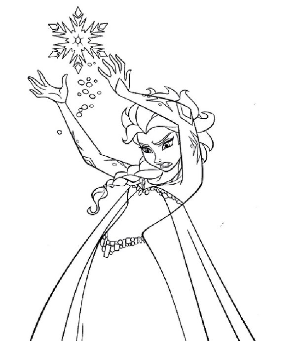 600x692 Princess Elsa Drawing By 96blackarrow