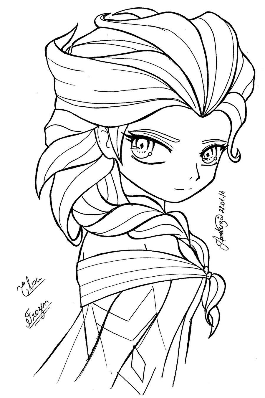 Princess Elsa Drawing at GetDrawings.com | Free for personal use ...