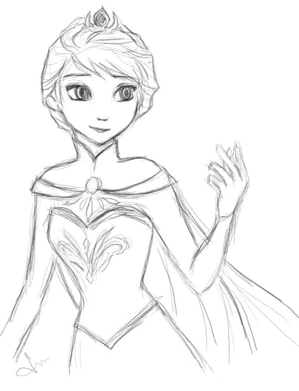 600x785 Queen Elsa By Septyong