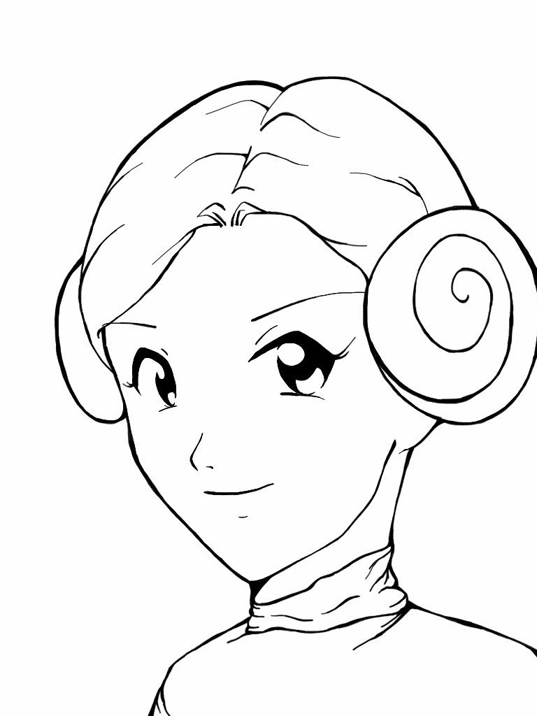 Princess Leia Drawing