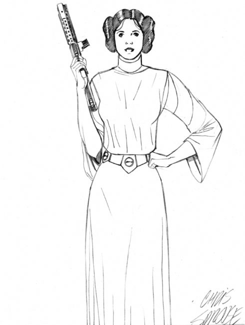 princess leia drawing at getdrawings com free for personal use
