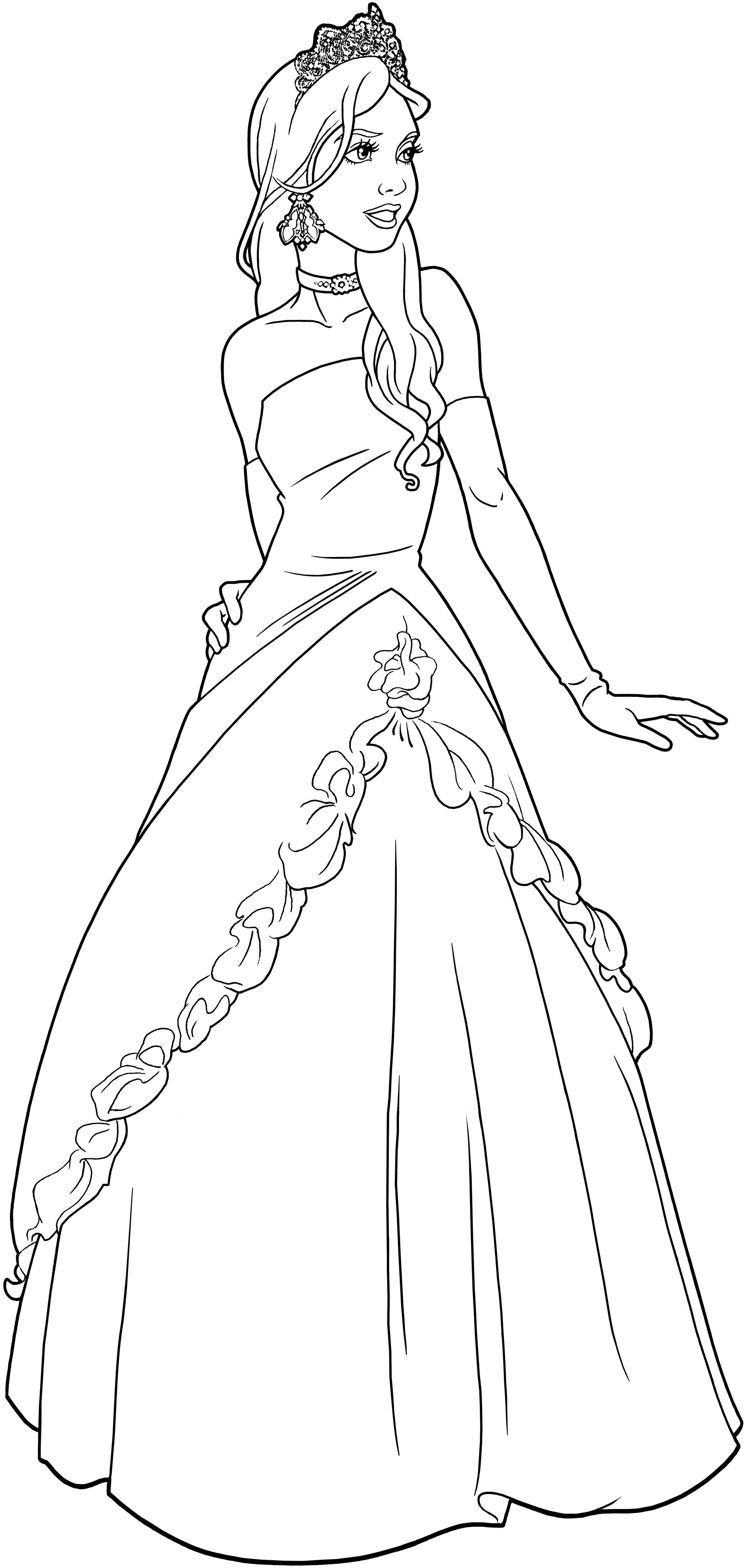 Princess Line Drawing At Getdrawingscom  Free For Personal Use