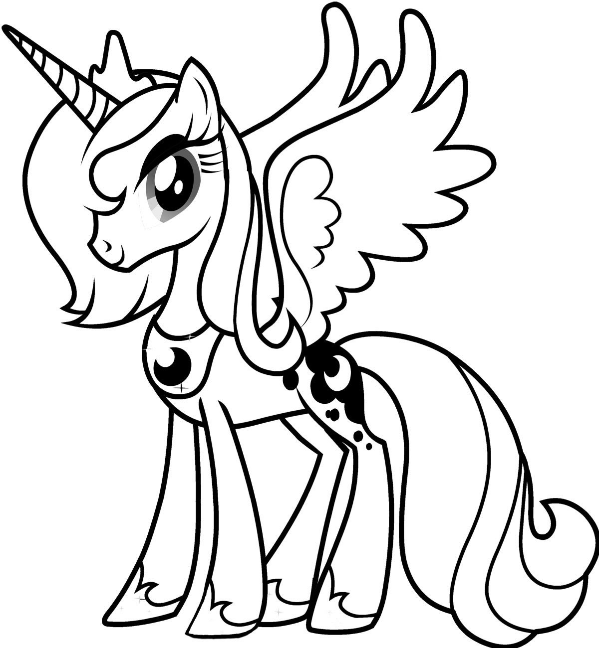 1200x1300 My Little Pony Coloring Pages Princess Luna Download