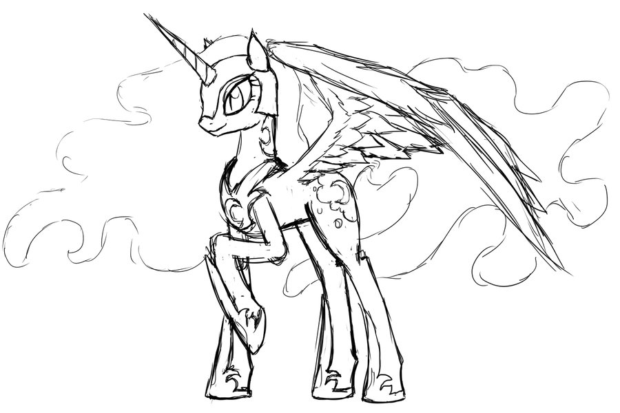 900x600 My Little Pony Nightmare Moon Coloring Pages