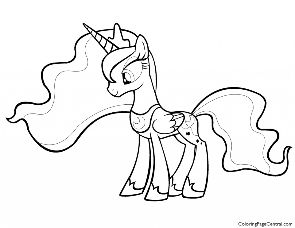 1024x791 My Little Pony Princess Luna 01 Coloring Page Coloring Page