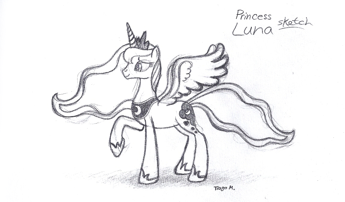 1140x670 Princess Luna Sketch By Purpleprowess48