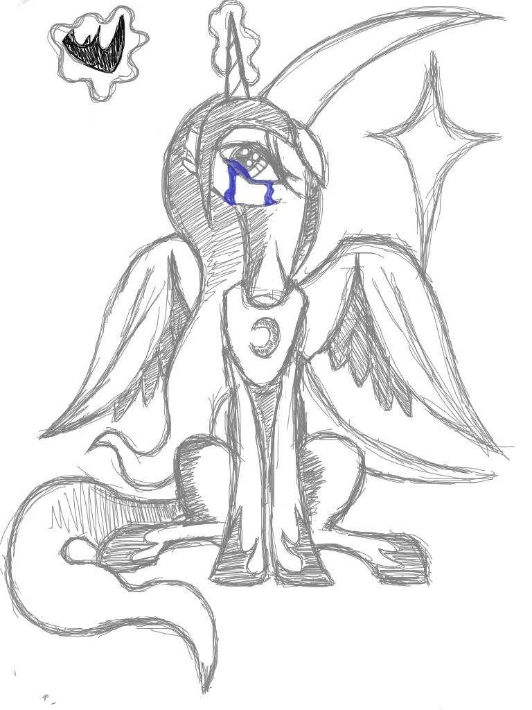 768x1024 Sad Princess Luna By Soul Raper Dragon
