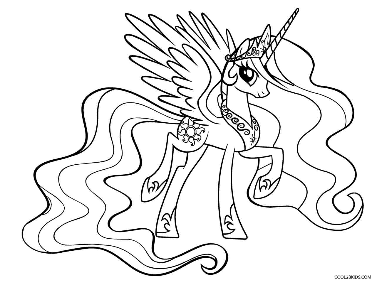 1300x971 Free Printable My Little Pony Coloring Pages For Kids Cool2bkids