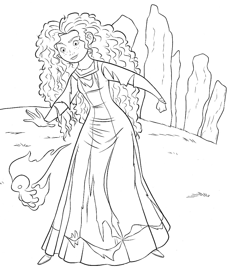 952x1109 Brave Coloring Pages Princess Merida For Kids